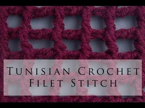 Filet crochet con punto tunecino