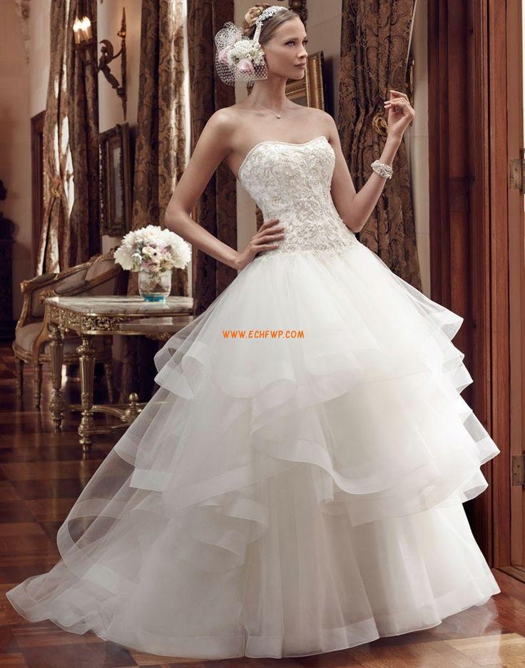 Srdíčko Elegantní & moderní S hlubokým výstřihem na zádech Svatební šaty 2015