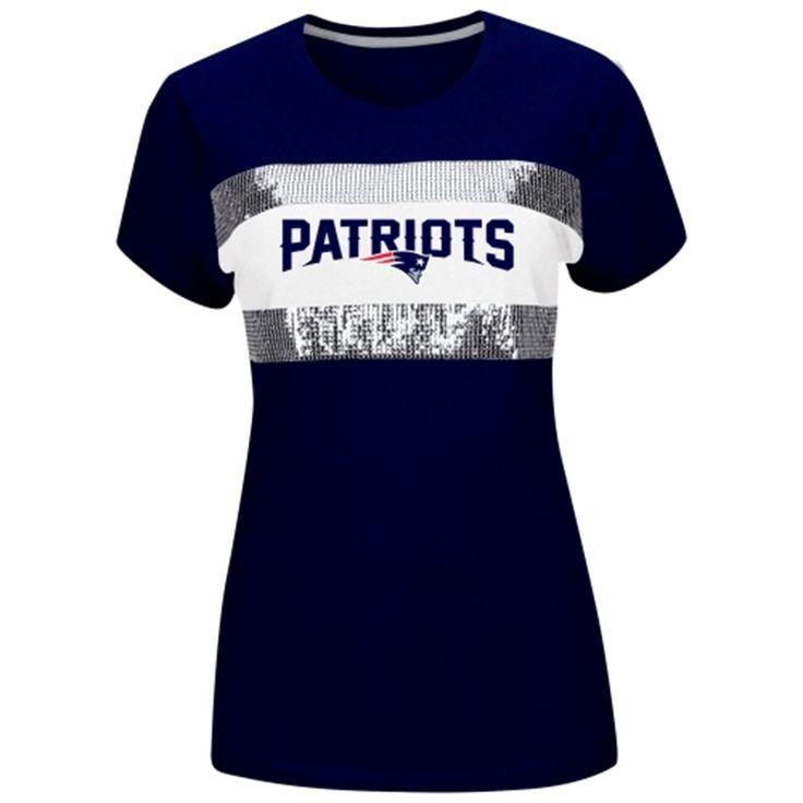 New England Patriots Women's Touchdown Queen T-Shirt – Navy Blue