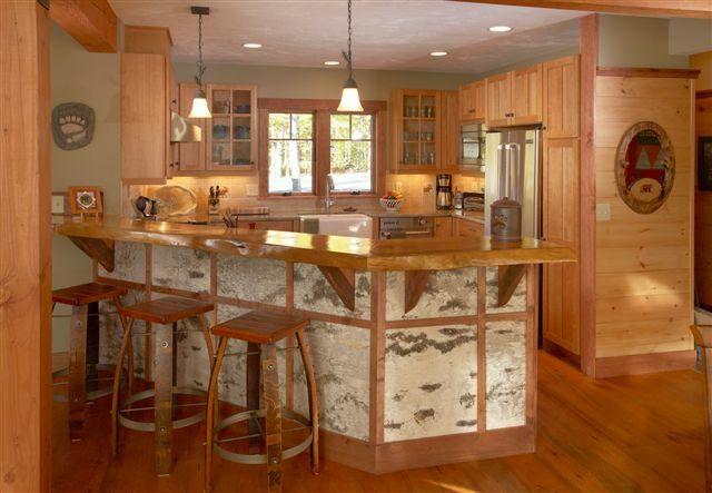 Birch bark accent finish modern adirondack style homes - Adirondack style bedroom furniture ...