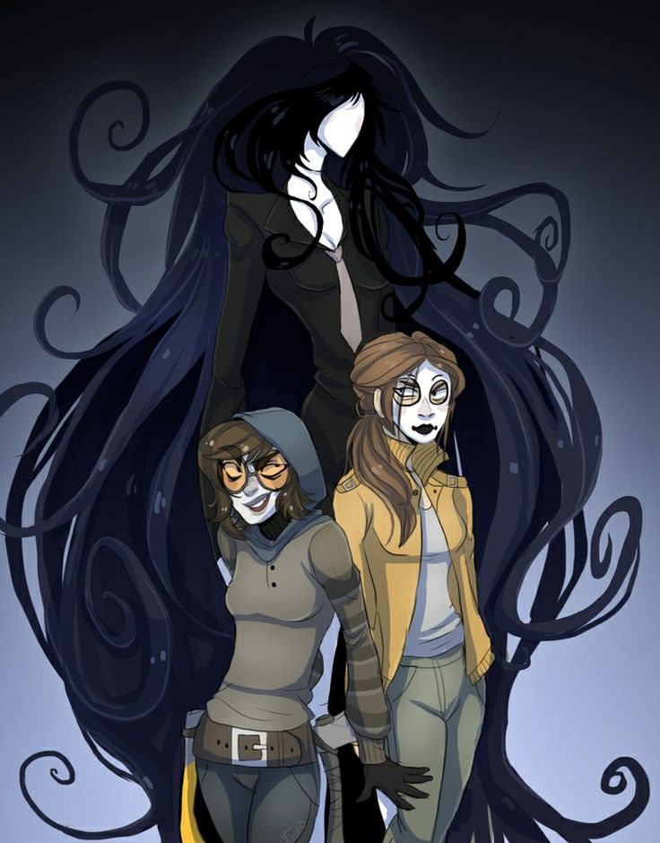 Creepypasta Genderbend <=== @beawesomehnl YOU HAVE SO MUCH HAIR!!! XD @thanksmommy @Animelover7777