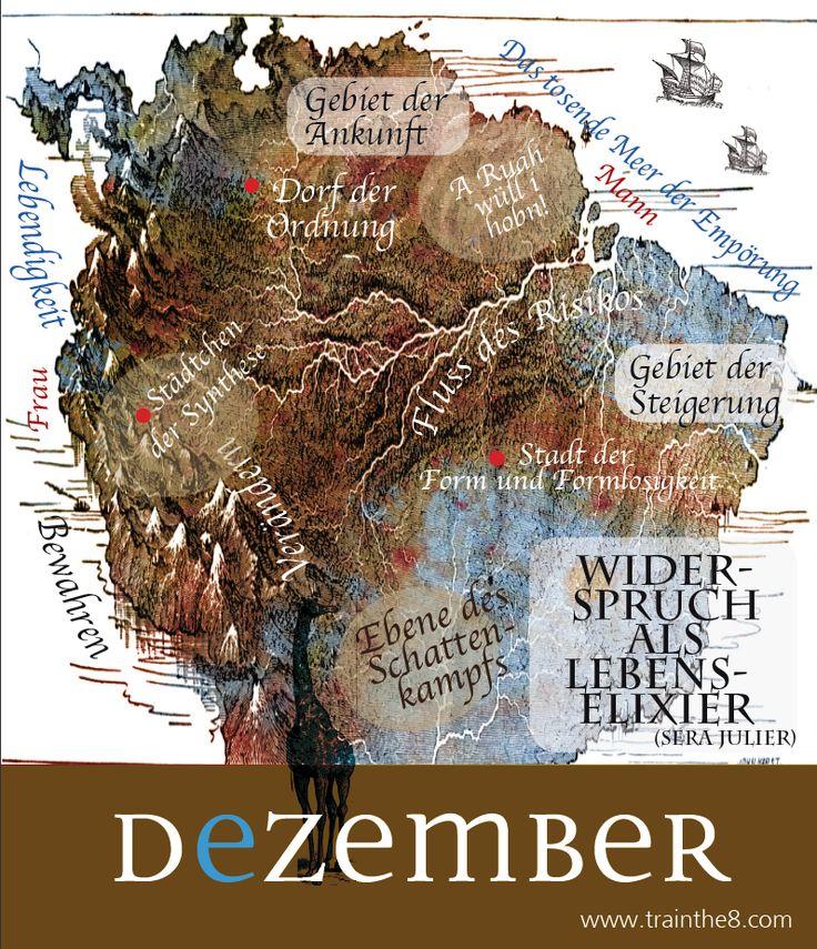 """Inspirationen für die ganzheitliche Entwicklung. Landkarten im Kopf - von Dodo Kresse für """"train the eight"""". Widersprüche sind der Anfang der Entwicklung"""