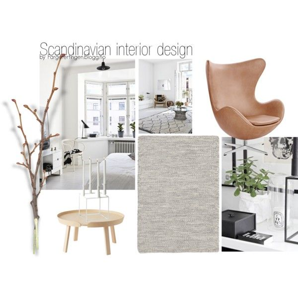 scandinavian interior design by fargerertingen on Polyvore featuring interior, interiors, interior design, home, home decor, interior decorating, Muuto, Linie Design, By Lassen and Home