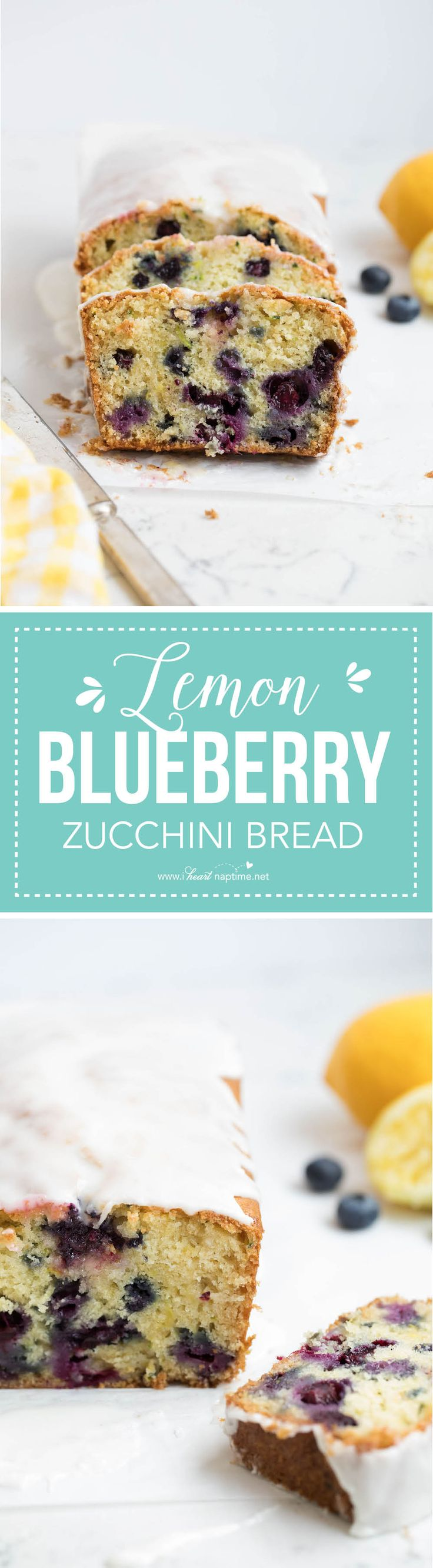 Lemon blueberry zucchini bread -this zucchini bread recipe is the best I've ever had! So moist and full of flavor!