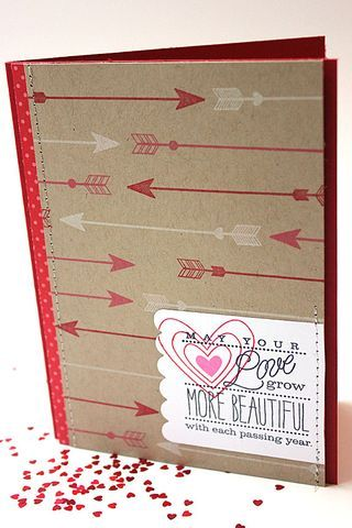 cupid's arrow + inside & out: love by heather - love all those red and white arrows!