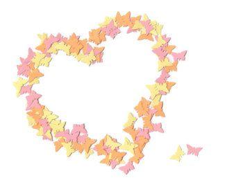 Confeti - mariposas de papel confeti - confeti - confeti de boda - contador de primer cumpleaños confeti - despedida de soltera de la mariposa