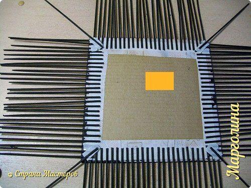 Мастер-класс Поделка изделие Декупаж Плетение Короб Лето От А до Я-2 часть Бумага Трубочки бумажные фото 3