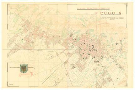 Plano aerotopográfico de Bogotá : el Instituto Geográfico Militar a la ciudad de Bogotá en el IV centenario de su fundación | banrepcultural.org