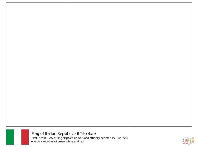 Inspired Image Of Italy Coloring Pages Flag Coloring Pages