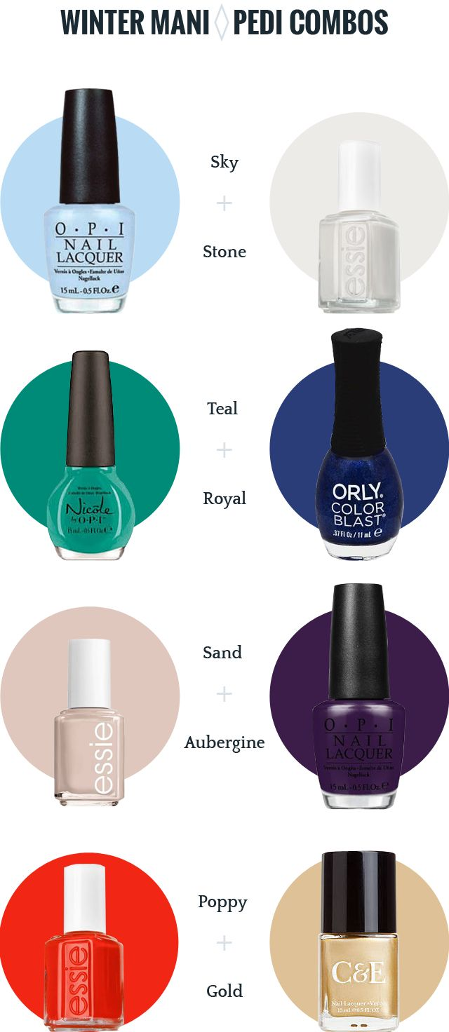 Winter and Holiday Mani-Pedi Polish Pairings #nailart #nailinspo #nailpolish