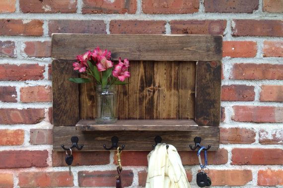Mail and Key Holder Key Hook Rack Hanging Mail by BlueRiverBarn
