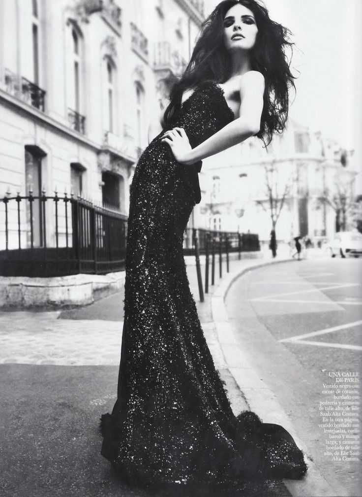 Glam: Long Dresses, Ball Gowns, Vogue Spain, Elie Saab, Black And White, Black White, Black Gowns, Fashion Photography, The Dresses