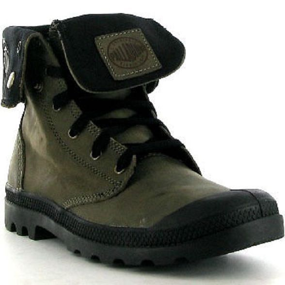 Mens Palladium Baggy Distressed Leather Hi Chinchilla Boots Sneakers New
