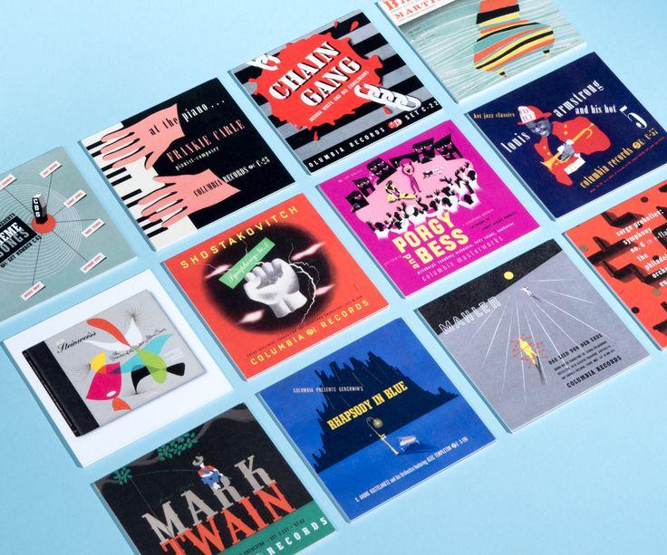 A selection of album cover designs by the legendary designer Alex Steinweiss.