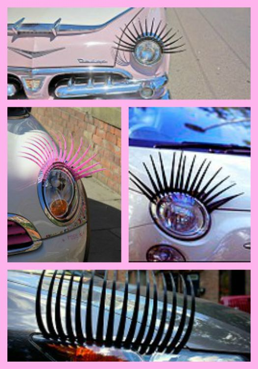 Headlight Eyelashes for Cars #HeadlightEyelashes #DecorateCar
