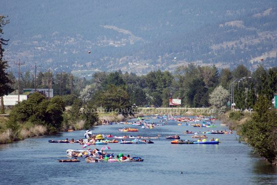 The best summer fun in Penticton is floating the River Channel.  And, it's FREE!