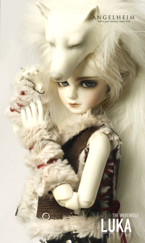 Werewolf Luka fantasy doll by Korean company Angelheim