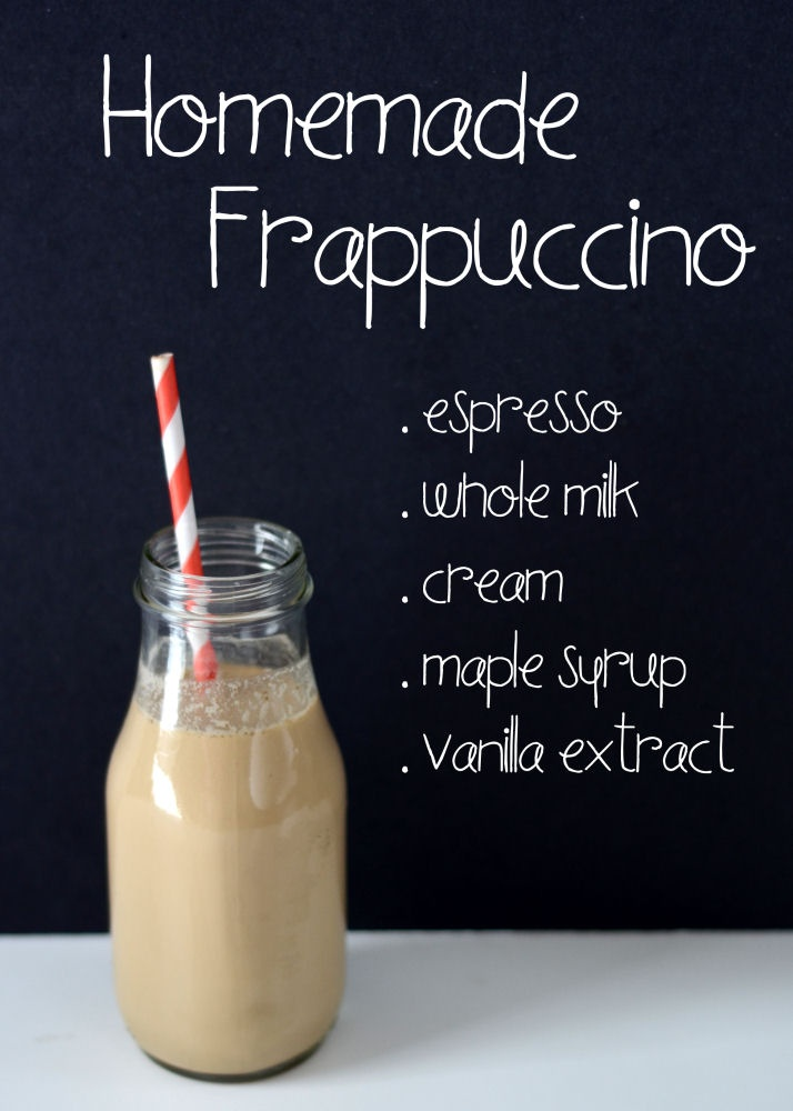Want to enjoy a Homemade Frappiccino? Here comes the recipe! Thanks @Karen