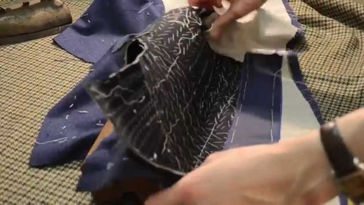 The Making of a Coat #21 Ripping & Smoothing Padding the Lapels by Brooklyn-based tailor Rory Duffy
