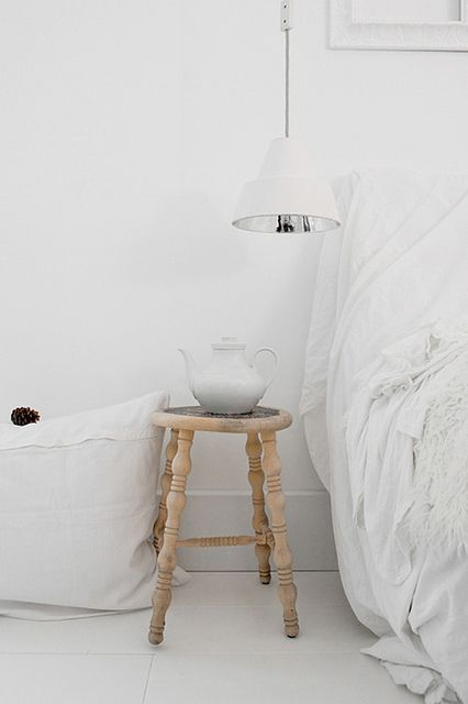 natural wood stool. love. {from ikea!}
