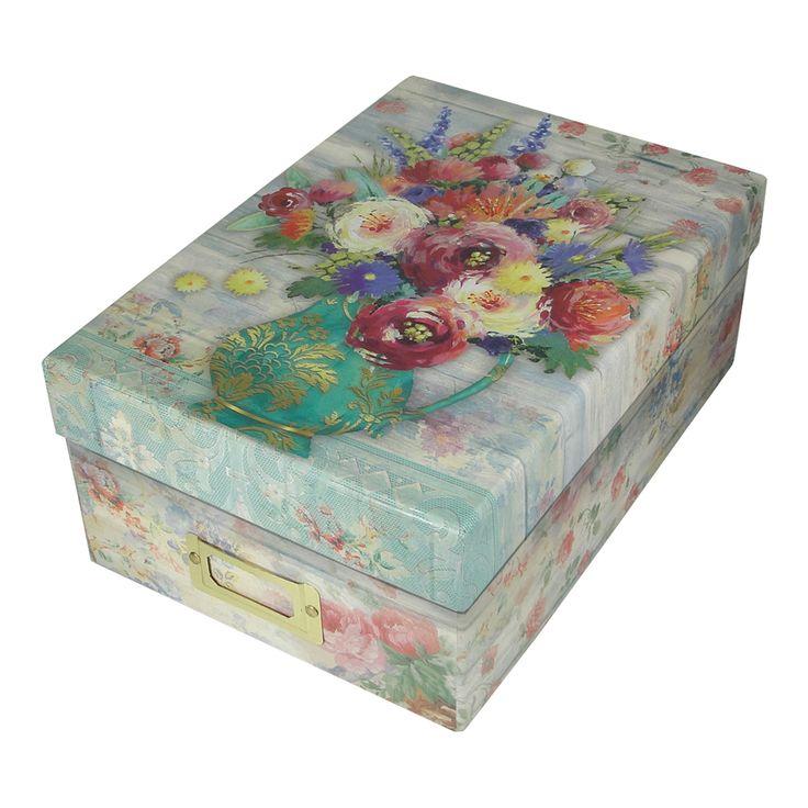 Punch Studio Fresh Flowers Photo Storage Box