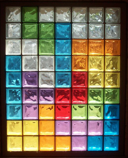 I did stained glass on our front door, but this is just sheets of cellophane which would be easier and less permanent.