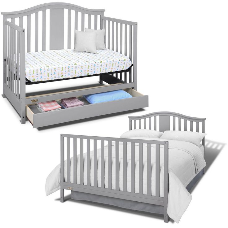 graco solano convertible crib 4 in 1 baby with drawer nursery bed gray graco