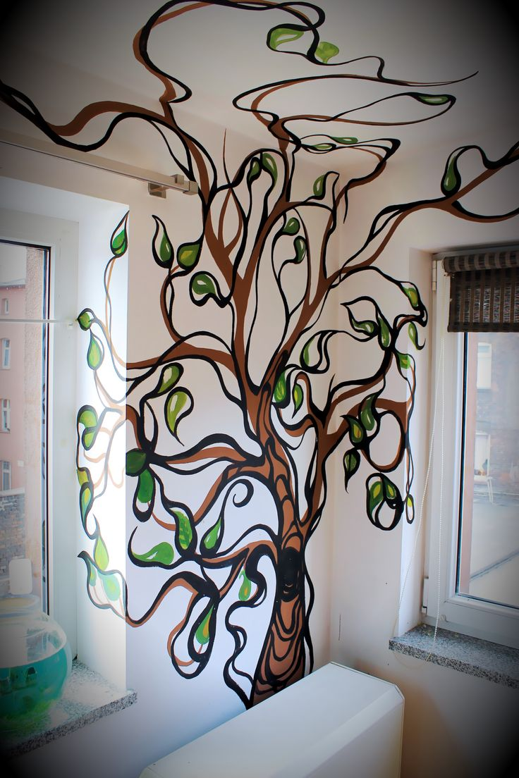 11 best mural in nursing home images on pinterest murals dining hand painted wall tree mural amipublicfo Gallery