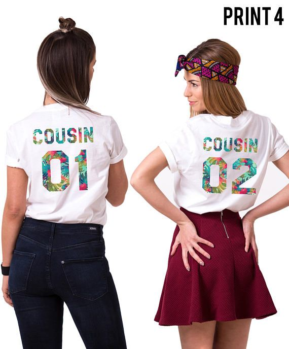 Cousins Shirts, Cousin gift idea, Cousin 01 Cousin 02 Shirts, Matching cousins shirts, Shirts for cousins, Cousin gift, Gift for cousin ◆ ◆ ◆ ◆ ◆ ◆ ◆ ◆ ◆ ◆ ◆ ◆ ◆ ◆ ◆ ► THE PRICE IS FOR THE SET OF TWO MATCHING SHIRTS. ► Numbers on the shirts can be CUSTOMIZED upon request! Just please