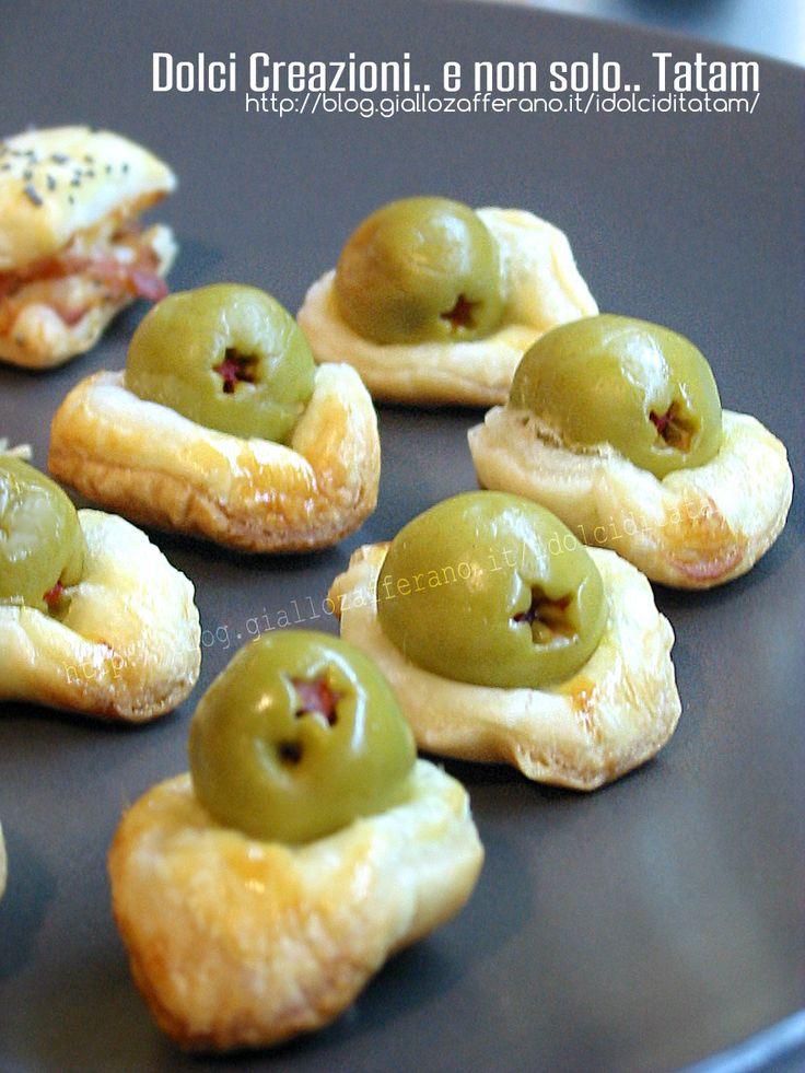 Salatini di pasta sfoglia alle olive  ricetta facile e veloce