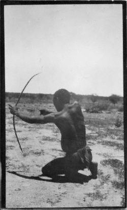 From the San (Bushman) photographs of Dorothea Bleek. Dorothea Bleek continued the work of her father and aunt, recording and documenting the San languages of Southern Africa and publishing books and articles based both on her own work and theirs.