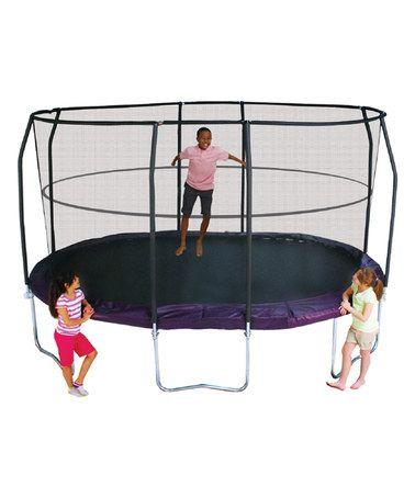 This Jumpod Premium 8' x 14' Oval Trampoline Set is perfect! #zulilyfinds