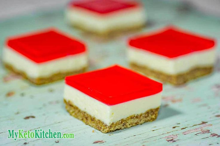 Chef Gerri has re-created the nostalgia with her Low Carb Jelly Slice, and it's amazing. The Sugar-Free Sweetened Condensed  Milk is the key to this dessert