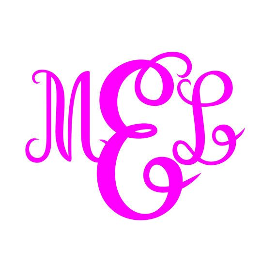 Font Packs svg  Monogram svg DXF EPS files  Personal by inkminta
