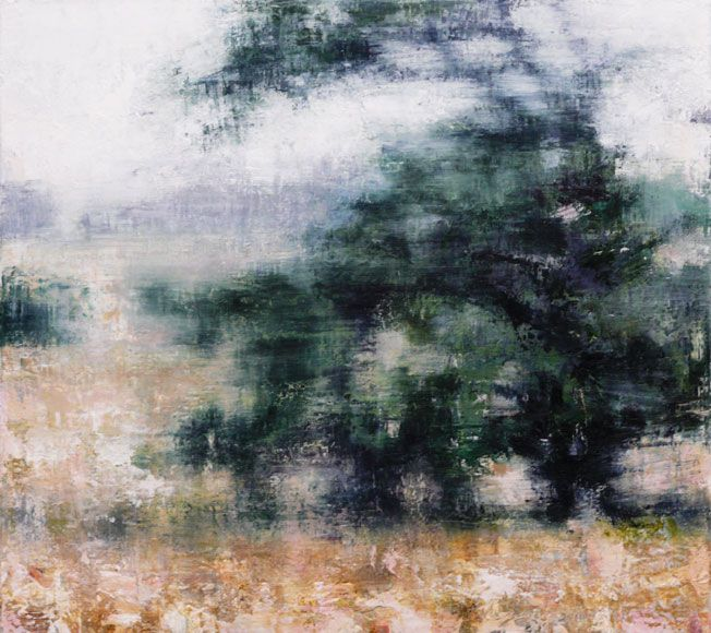 Joanna Logue, Conifer Ballalaba (for Maude) 2010  Oil on canvas 45 x 50cm SOLD