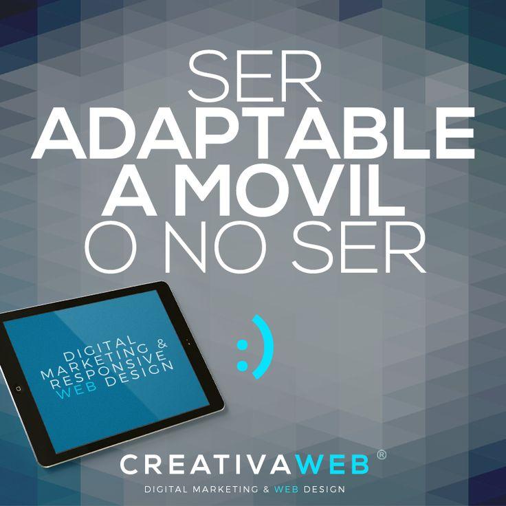 """""""Ser Adaptable a Móvil o No Ser"""", nos gusta esta frase porque es la pregunta que se hacen algunos clientes sobre si deben implementar un Diseño Web Adaptable a Móvil, aquí esta la respuesta > http://www.creativaweb.co/ser-adaptable-a-movil-o-no-ser/ #adaptable #movil #mobile #disenoresponsive #marcadeo #colombia"""