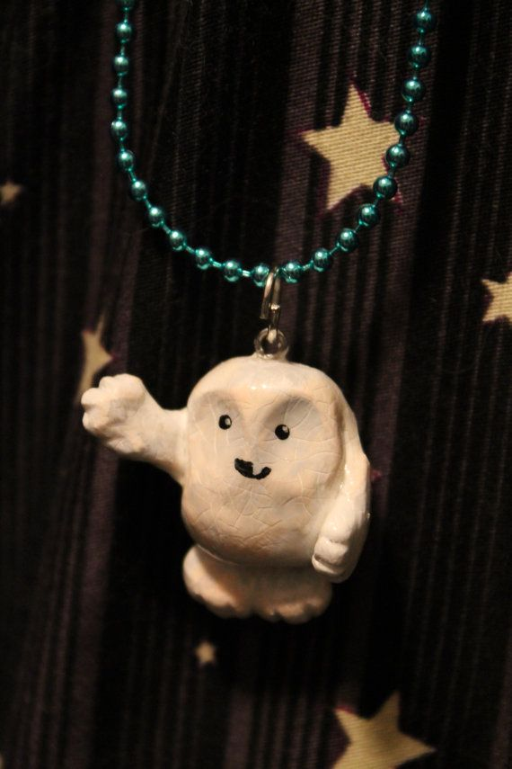 Goodbye Baby Adipose Necklace - Dr. Who. So I've spent some money on Etsy w Doctor Who stuff.(guess I have enough Sherlock items ...for now) and want to acknowledge and maybe drive sales over to these cute shops. This is absolutely adorable. Little fat adipose baby. Lol. Check it out
