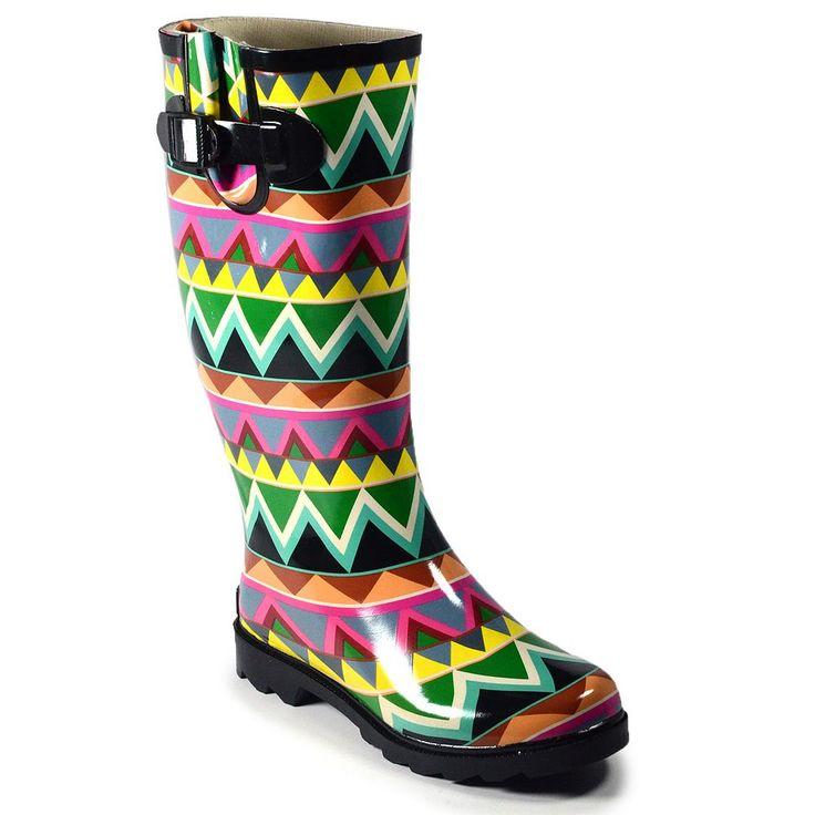 Corkys Sunshine Women's Rain Boots, Size: 10, Black