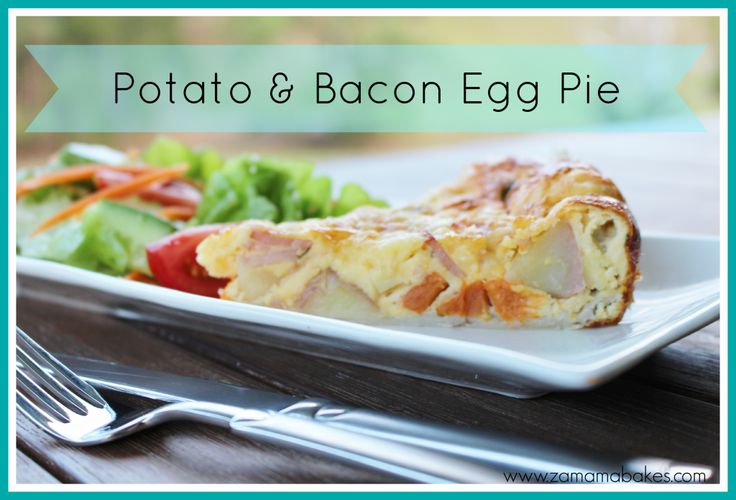 A Weeknight Meal...Potato and Bacon Egg Pie  www.zamamabakes.com