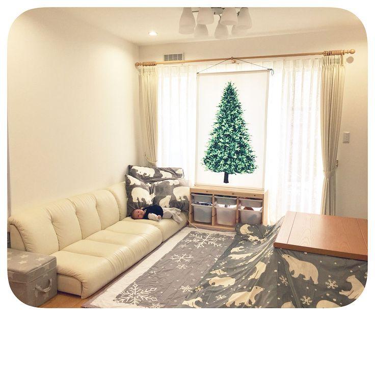 トロファスト/IKEA/ツリータペストリー/クリスマスツリータペストリー/ローソファー…などのインテリア実例 - 2017-11-19 14:15:21 | RoomClip(ルームクリップ)