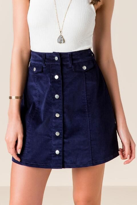 Alena Button Front Skirt
