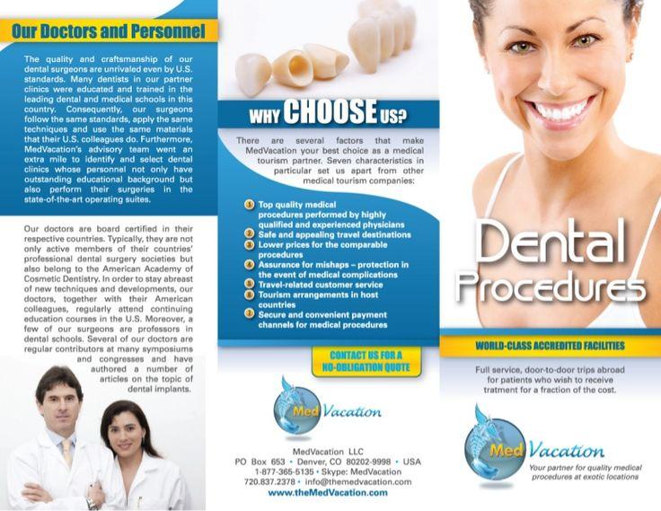 Best Dental Brochure Designs Images On   Brochure