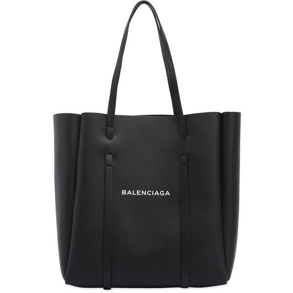 Balenciaga Women Small Everyday Leather Tote Bag ($1,175) ❤ liked on Polyvore featuring bags, handbags, tote bags, black, balenciaga tote, leather tote handbags, genuine leather handbags, leather purse and handbags totes