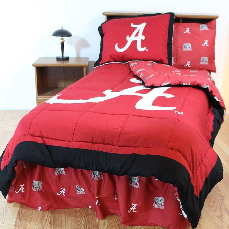Alabama Crimson Tide Bed In A Bag W/ Colored Logo Sheets
