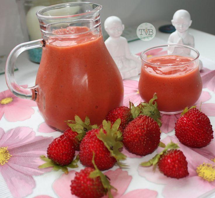Smoothie Erdbeer Mango tschaakiis veggie blog