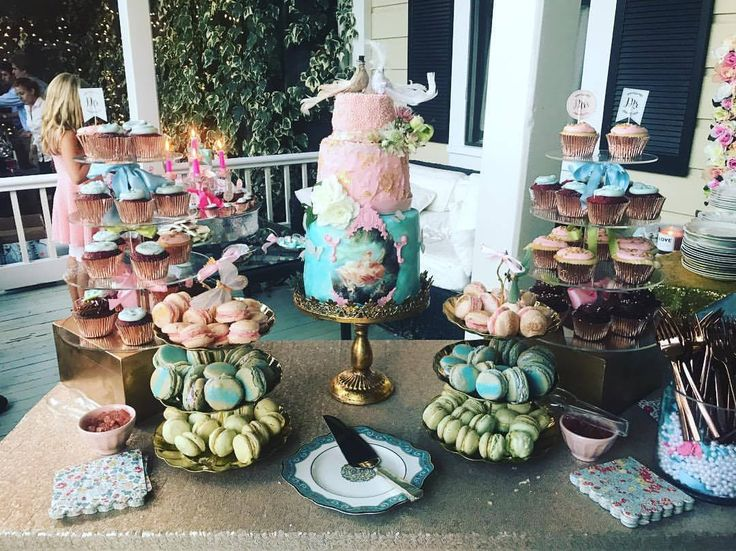 Rococo Inspired Cake & Desserts by Dish Catering Los Angeles
