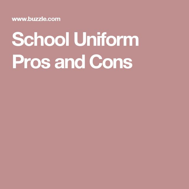 pro and cons of uniforms Essay about pros and cons on school uniform gonzalez 1 yugo gonzalez mrs kastl 1st period 12/3/14 school uniform the idea of school uniform brings controversy to many schools around the world, but uniform has its pros and cons to it.