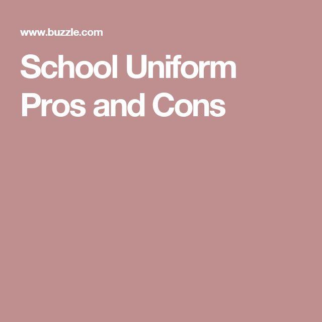 School Uniform Pros and Cons