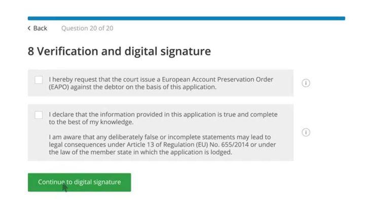 e-SENS pilot in e-Justice domain: EAPO