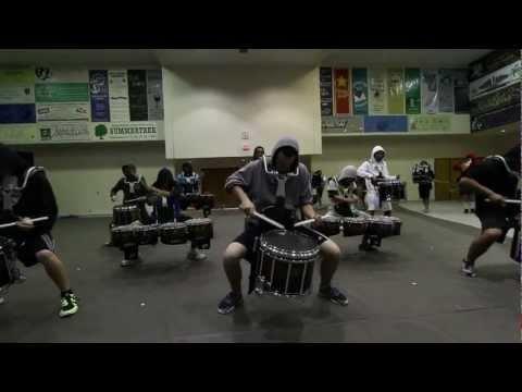 Ayala High School Drumline 2012 On The Floor Early Season